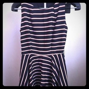 Papaya Dresses - Blue dress with white and red stripes